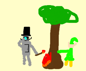 "Robot sets elf tree on fire ""like a sir"""