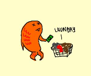 Goldfish buys laundry