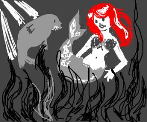Mermaid evades seal