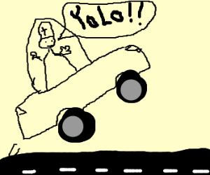 Popemobile catches air - YOLO!!!