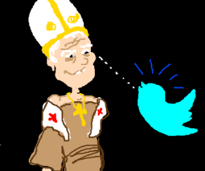 Pope gets creepy with Twitter