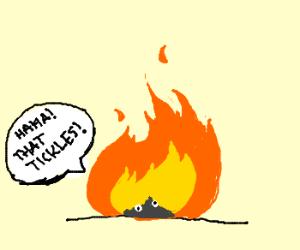 elmo gets burnt