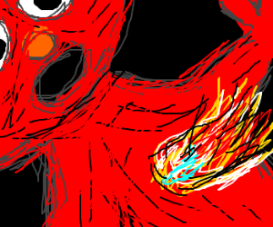 Fire in Elmo's organthingy