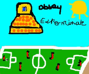 Dalek intervines in soccer game