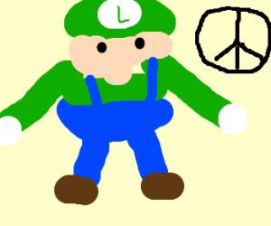 Luigi is a pacifist