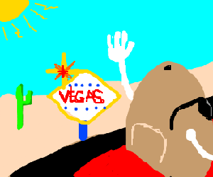 A MR. potato head going to vegas