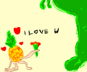 Pineappleman declares love for Dinosaur