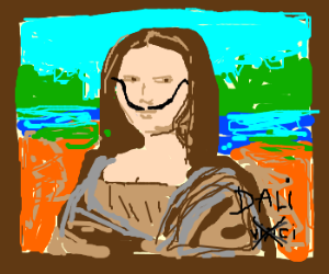 Dali meets Mona Lisa.