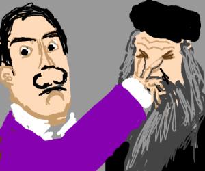 Dali's getting mad at Da Vinci's fame