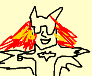 flame-haired Bat Woman