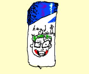 Head & shoulders portrait of cartoon Joker.