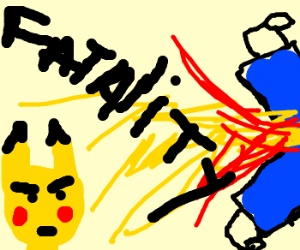 Pikachu wins by fatality with groin lightening
