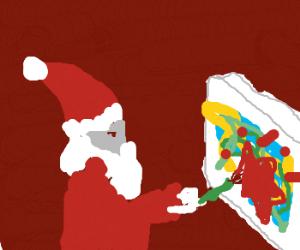 Santa ruining a painting