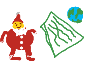 Santa plans invasion of world on touch screen