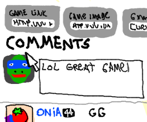 Drawception Comments section