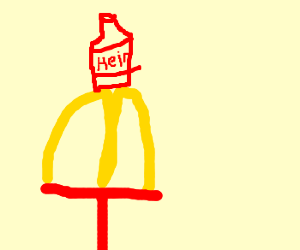 McDonalds Arch with ketchup on top