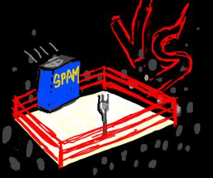 Spork vs Spam. Round 1, FIGHT