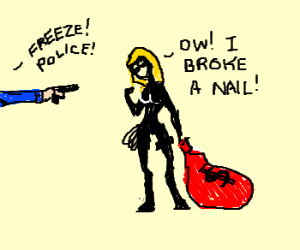 Dumbest female burglar in the world