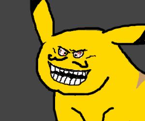 "Pikachu ""I lied"" face."