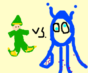 Elf vs alien squids