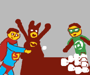 JusticeLeague plays BeerPong..erm, CoffeePong?