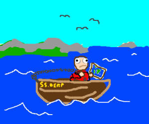 "The S.S. Derp's maiden voyage! TO ""CHIAN""! HO!"