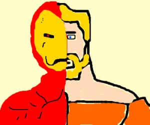Iron man morphing into aquaman