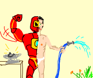 Half-man, half-ironman