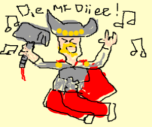 Thor rocks out to emo music