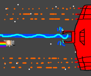 Nyan Cat in bullet heIl game