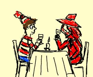 Waldo goes on a date with Carmen Sandiego