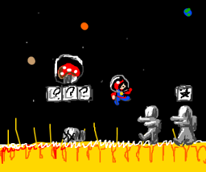 Why would Mario fight astronaughts on the sun?