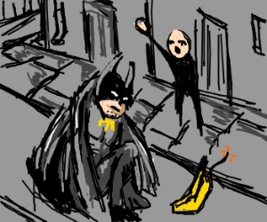 Don't pick up that banana Batman! It's a bomb!