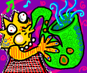 Lisa plays her sax