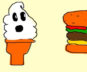 Swirl wants a hamburger