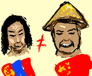 Mongol points out that he isn't Chinese