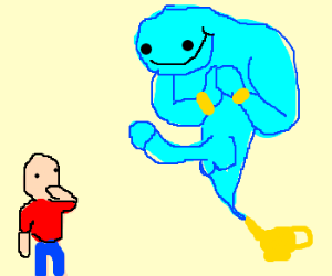 beware, for the genie is a rapist