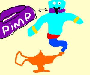 Genie with a pimp collar.