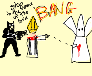 Batman and The Pope Stop KKK