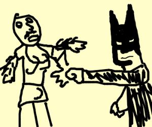 Holy smokes Batman a punching bag angel!