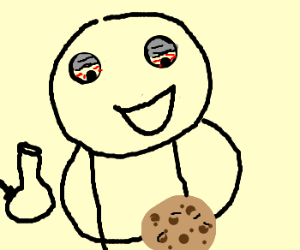 stoner about to eat massive cookie