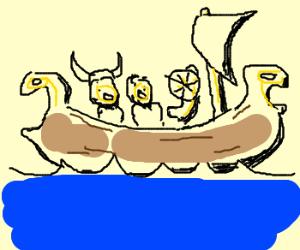 Thanks to google, A viking ship is drawn