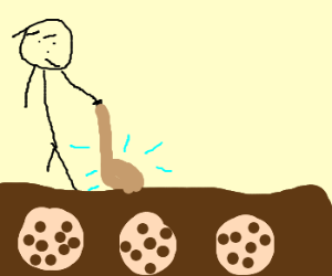 Man uses explosive pick to find cookies