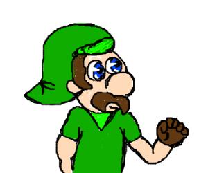 Luigi is Link(from Zelda) in disguise.