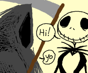 jack skellington meets grim reaper jack