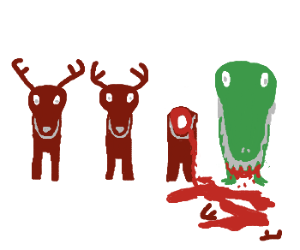 Dasher, Dancer, Prancer, Velociraptor
