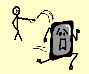 Iphone escaping owner