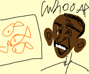 Obama's enthralled by cursor shaped fish