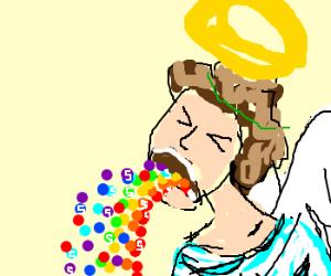 Image result for angel pukes
