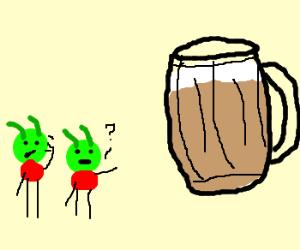 Martians discover beer